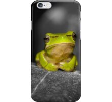 Eastern Dwarf Tree Frog - Black and White background iPhone Case/Skin