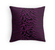 Pulsar waves - White&Pink  Throw Pillow