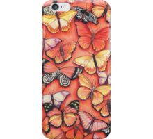Orange Butterflies iPhone Case/Skin