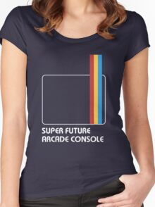 SUPER FUTURE ARCADE CONSOLE Women's Fitted Scoop T-Shirt