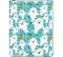 cute seal and fish in water iPad Case/Skin