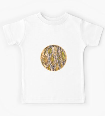 Autumn Dreams.Hand draw  ink and pen, Watercolor, on textured paper Kids Tee