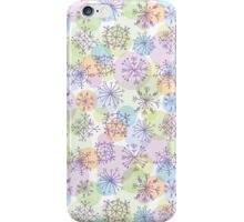 pattern with purple snowflakes on light background iPhone Case/Skin