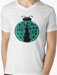 Aqua Ladybug Children T-shirt Mens V-Neck T-Shirt