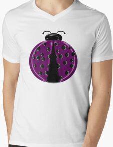 Fuchsia Ladybug Children T-shirt Mens V-Neck T-Shirt