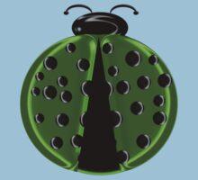 Green Ladybug Children T-shirt Baby Tee