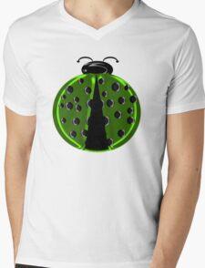 Green Ladybug Children T-shirt Mens V-Neck T-Shirt