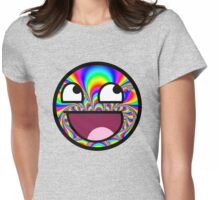 AWESOME MEME FACE - Cool  EFFECT Womens Fitted T-Shirt
