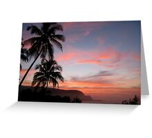 Na Pail Coastine Sunset - Princeville/Hanalei Bay Greeting Card