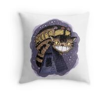 Catbus (Colour Version) Throw Pillow