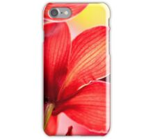 Red Orchid Macro iPhone Case/Skin