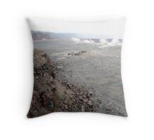 Desolate Volcano Throw Pillow