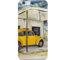 Taxi at Abandoned Petrol Station iPhone Case/Skin