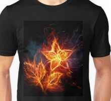 Flower on fire Unisex T-Shirt