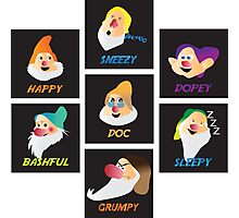 the 7 dwarfs Photographic Print