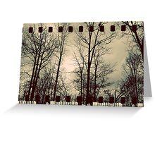 Vintage Trees - Film Overlay Greeting Card