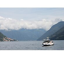 Ferry Boat, Lake Como Photographic Print