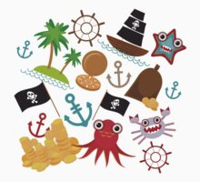 Marine pirate pattern Kids Tee