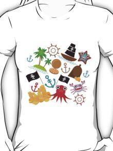Marine pirate pattern T-Shirt