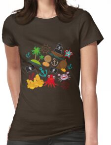 Marine pirate pattern Womens Fitted T-Shirt