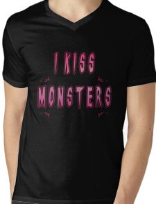 I Kiss Monsters Mens V-Neck T-Shirt