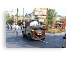 Mater from Cars At  Disneyland California Adventure Canvas Print