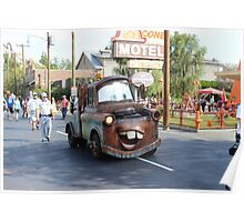 Mater from Cars At  Disneyland California Adventure Poster