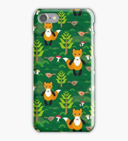 fox and forest tree.  iPhone Case/Skin