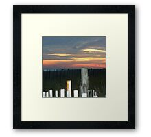 dusk in Cape may Framed Print