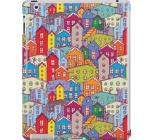 Cityscape seamless pattern. Sketch.  iPad Case/Skin