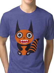 Cute cartoon orange monster Tri-blend T-Shirt