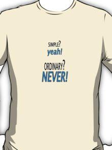 Simple Vs. Ordinary T-Shirt