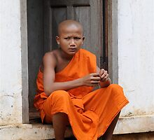 Young Buddhist Priest by Carl LaCasse
