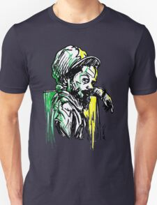Rastafarian Leaning on Wall T-Shirt
