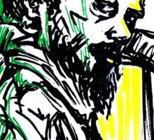 Rastafarian Leaning on Wall Sticker