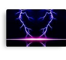 Blue Lightning Canvas Print