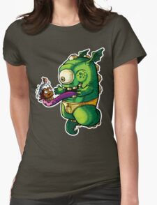 Oh No! Cupcake Monster Womens Fitted T-Shirt