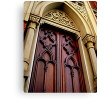 Wise Temple Church Door Cinci, Oh Canvas Print