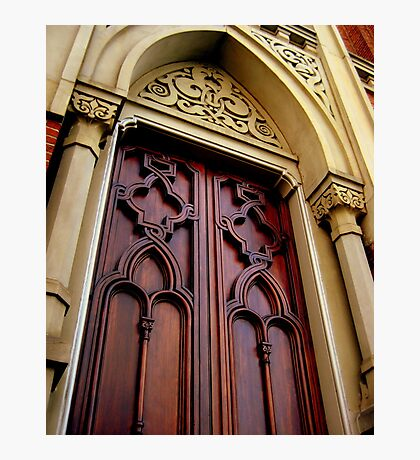 Wise Temple Church Door Cinci, Oh Photographic Print