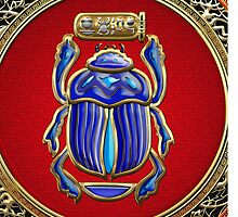 Sacred Egyptian Scarab by Serge Averbukh
