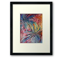 Lively step into tomorrow's dislocation Framed Print