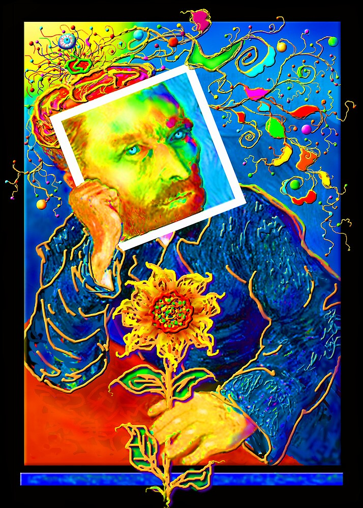 Van Gogh with Sunflower by luvapples downunder/ Norval Arbogast