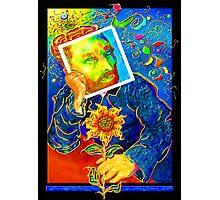 Van Gogh with Sunflower Photographic Print