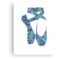 Peacock Blue Ballet Shoes Canvas Print