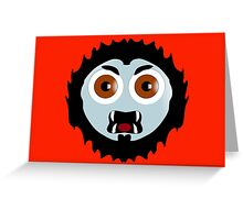Mad Werewolf Smiley Greeting Card