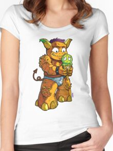 Look Out! Ice Cream Monster Women's Fitted Scoop T-Shirt