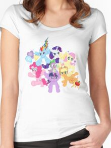 My Little Pony FiM - The Mane Six Women's Fitted Scoop T-Shirt