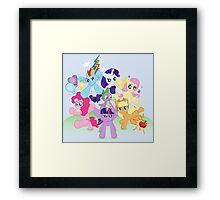 My Little Pony FiM - The Mane Six Framed Print