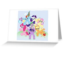 My Little Pony FiM - The Mane Six Greeting Card