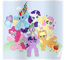 My Little Pony FiM - The Mane Six Poster